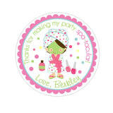 Spa Party Personalized Sticker Birthday Stickers - INKtropolis