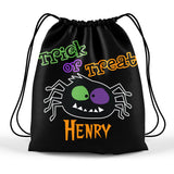 personalized halloween spider trick or treat bag