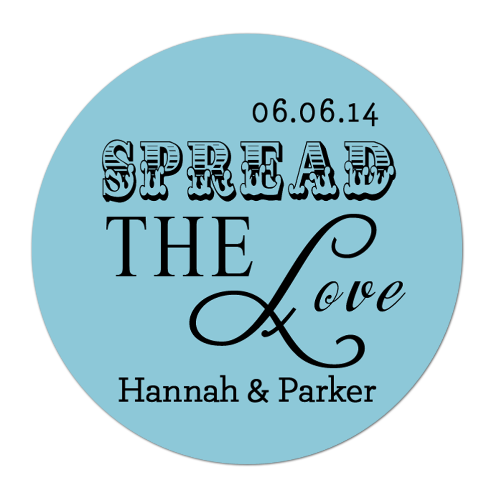 Spread The Love Personalized Sticker Wedding Stickers - INKtropolis