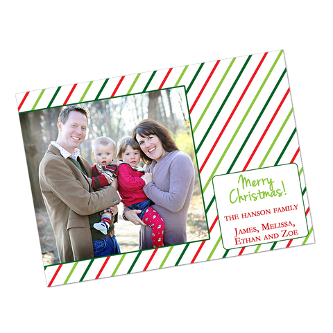 Striped Holiday Digital Invitation