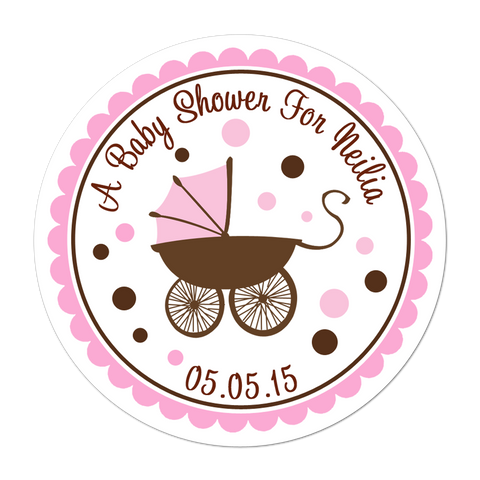 Baby Carriage Personalized Sticker