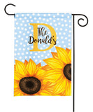 personalized sunflower garden flag