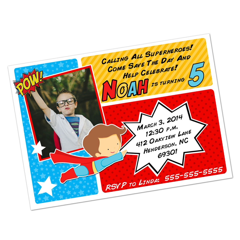 Superhero Digital Invitation Digital Invitations - INKtropolis