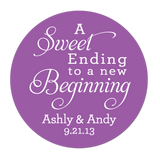 Sweet Ending To A New Beginning Personalized Sticker Wedding Stickers - INKtropolis