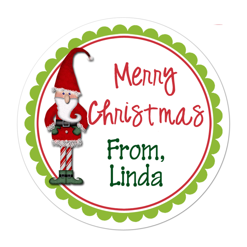 Elf Personalized Sticker Christmas Stickers - INKtropolis