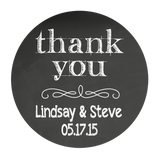 Thank You Chalkboard Style Personalized Sticker Wedding Stickers - INKtropolis