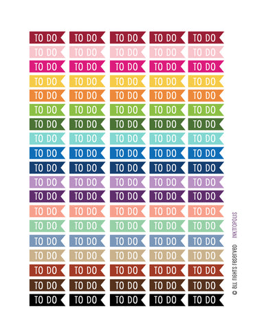 Monthly Planner Stickers To Do Flag Stickers Planner Labels Erin Condren Planner Happy Planner