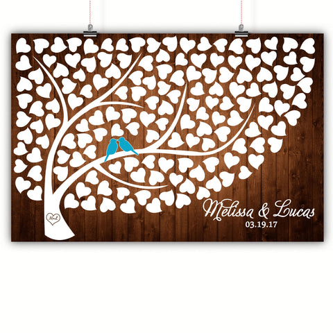 Wedding Heart Tree Guest Book Alternative - Medium Wood