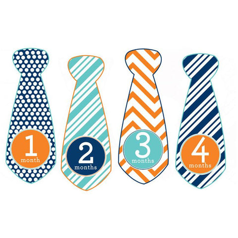 Trendy Tot Monthly Baby Stickers - Tie Shaped