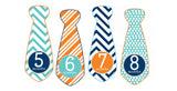 Trendy Tot Monthly Baby Stickers - Tie Shaped onesie sticker - INKtropolis