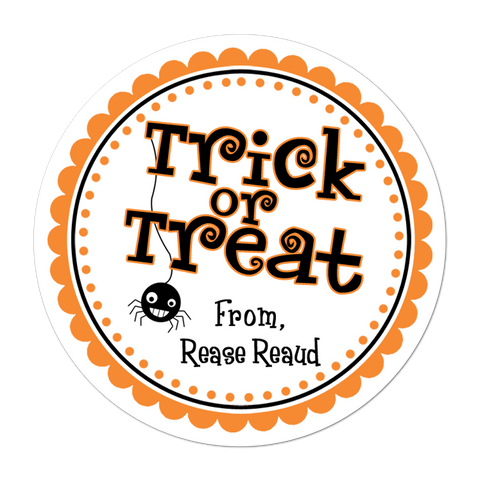 Trick Or Treat Personalized Sticker
