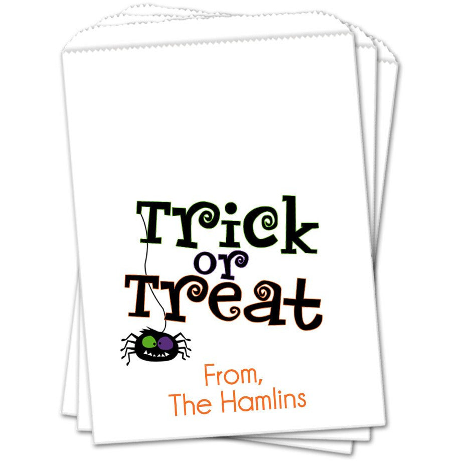 Trick Or Treat Halloween Favor Bags - Sets of 25 Halloween Favor Bags - INKtropolis