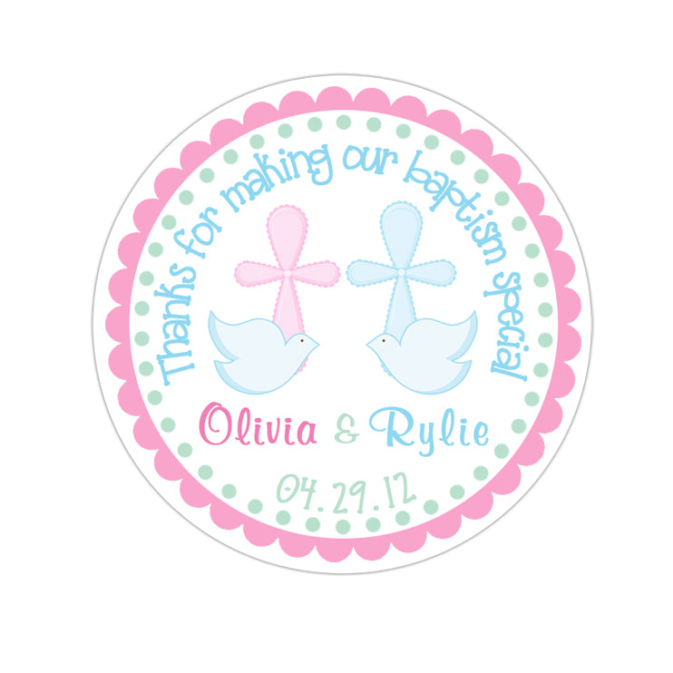 Twin Doves Personalized Sticker Miscellaneous Stickers - INKtropolis