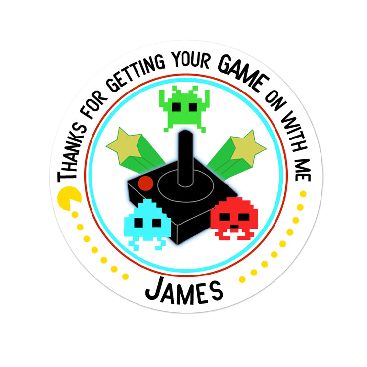 Video Gamer Personalized Sticker Birthday Stickers - INKtropolis