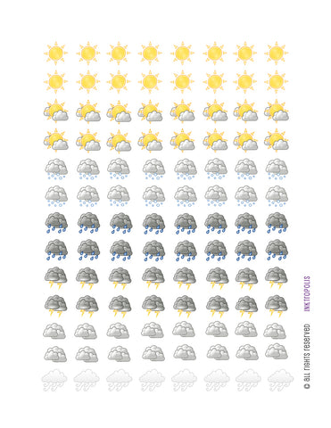 Monthly Planner Stickers Weather Stickers Planner Labels Compatible with Erin Condren Vertical Life Planner