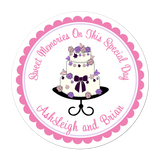Fancy Wedding Cake Personalized Sticker Wedding Stickers - INKtropolis