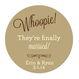 Whoopie Finally Married Personalized Sticker Wedding Stickers - INKtropolis