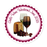 Wine And Cheese Personalized Sticker Miscellaneous Stickers - INKtropolis