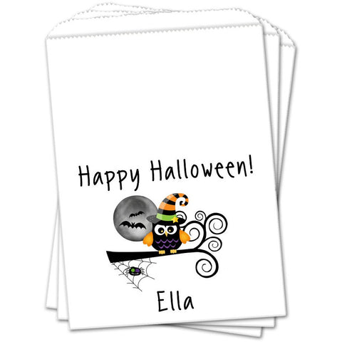 Witch Owl Halloween Favor Bags - Sets of 25