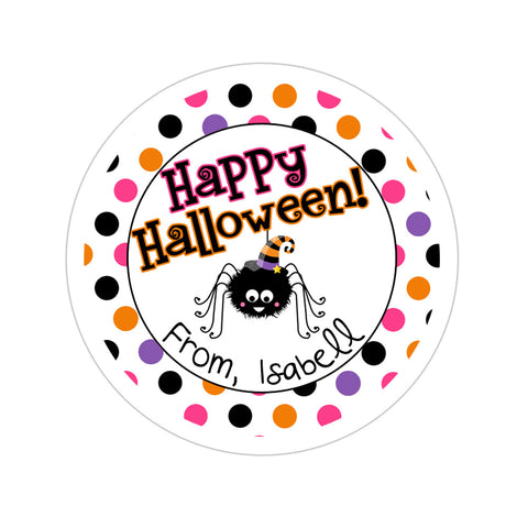 Polka Dot Spider Personalized Sticker