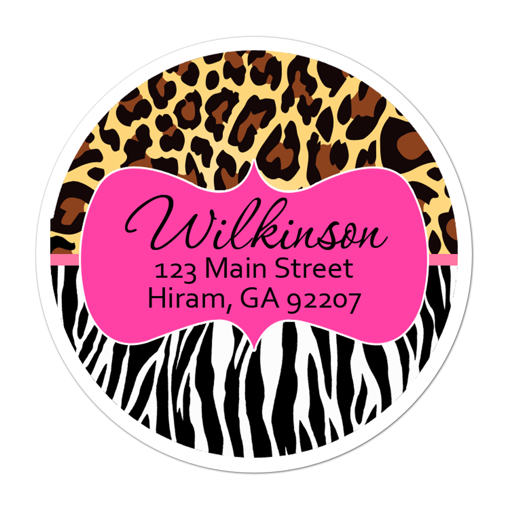 Zebra And Leopard Print Personalized Sticker Miscellaneous Stickers - INKtropolis