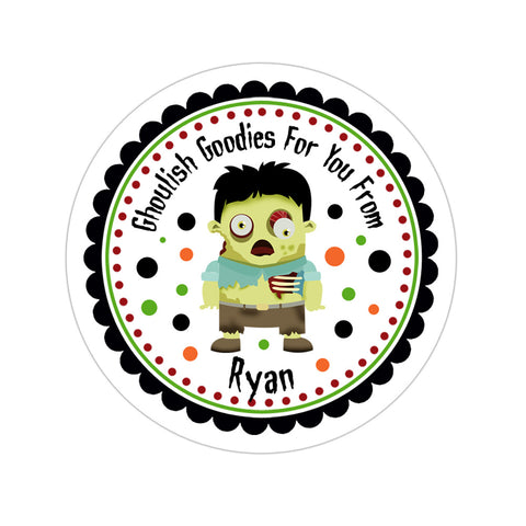 Zombie Personalized Sticker