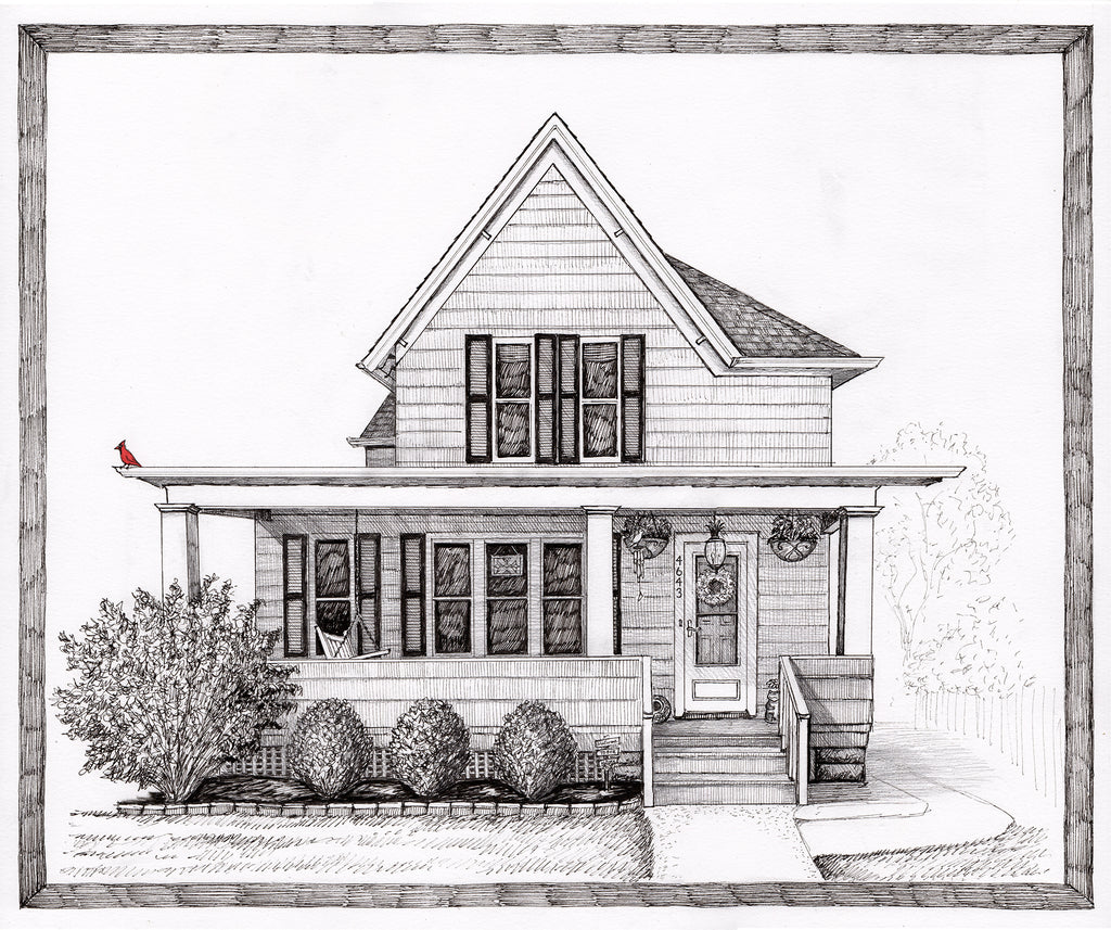 Portraits of the Home in Pen & Ink