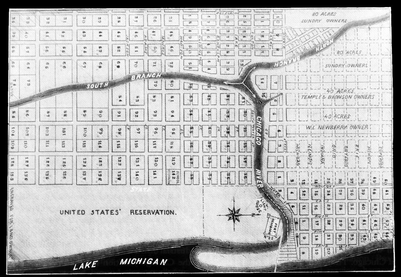 early chicago map streets