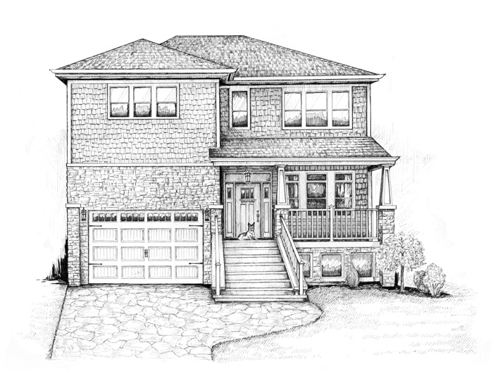 Large Chicago area home drawing