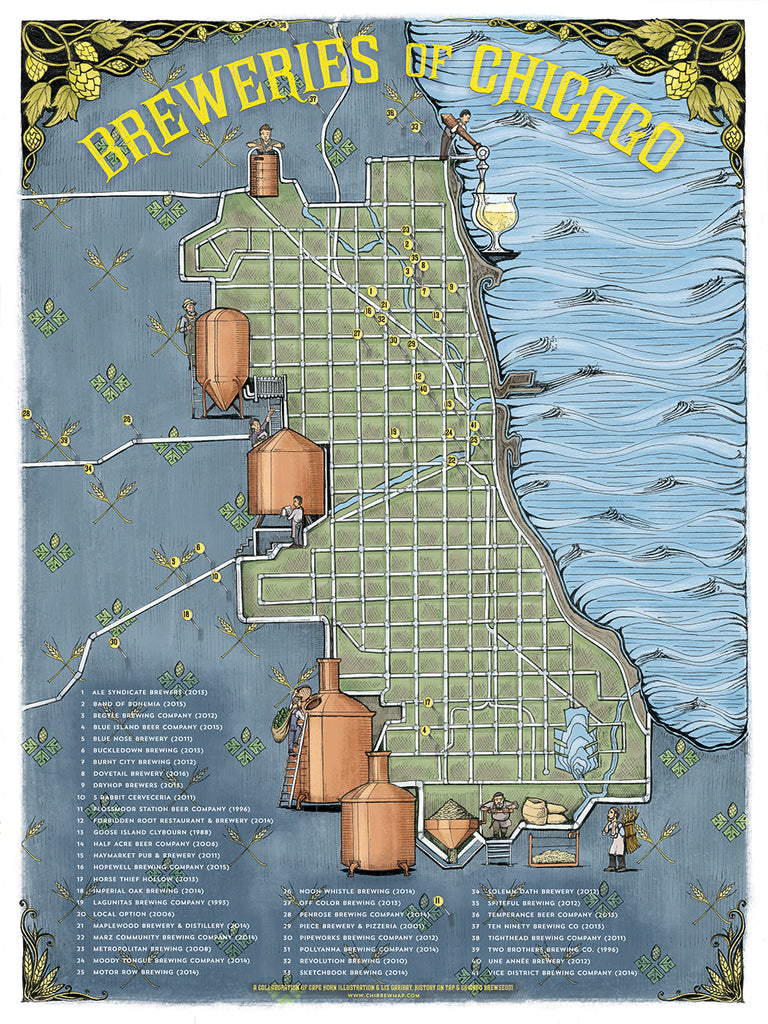 Chicago Brewery Map