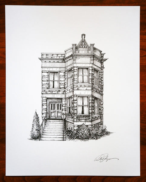 Home Portraits And Building Drawings Architectural Illustrations