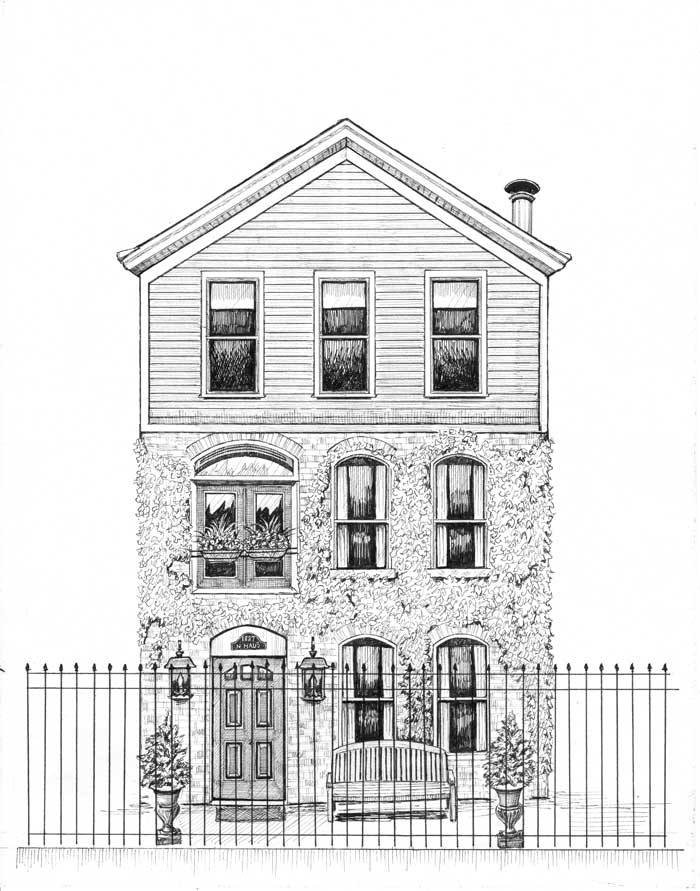 chicago three-story cottage drawing