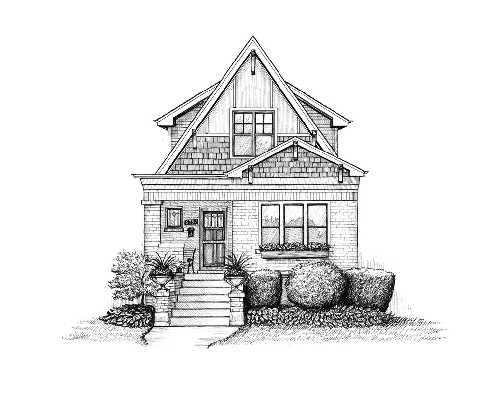 bungalow illustration