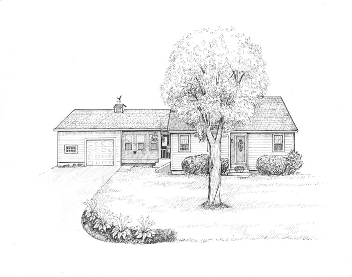 Manchester NH home drawing