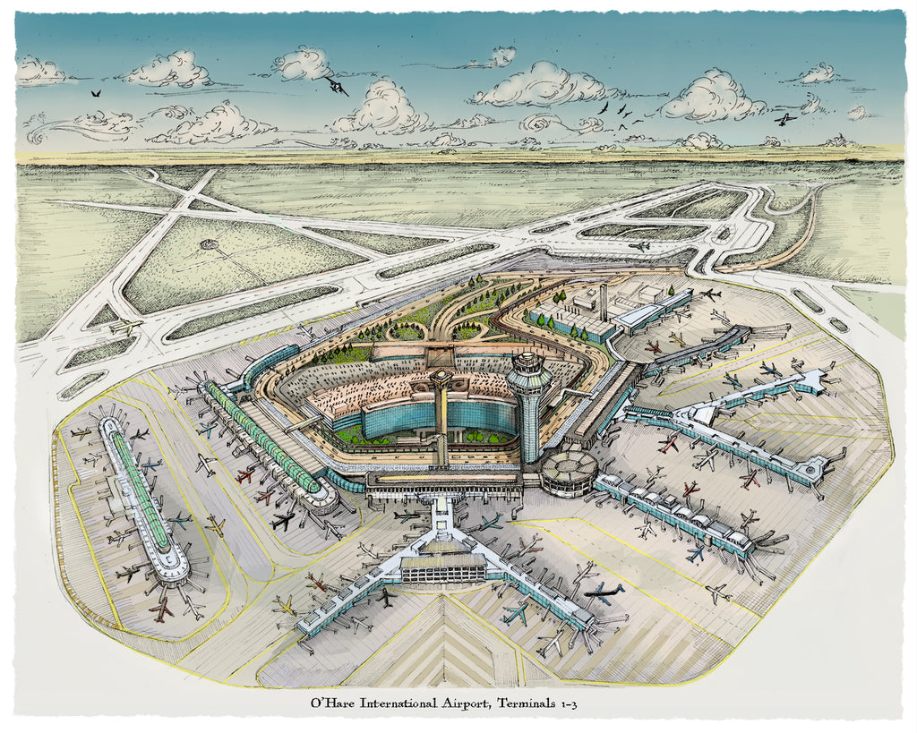 O'Hare Airport ORD illustration