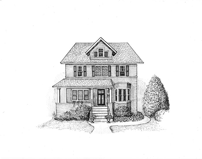 evanston home drawing