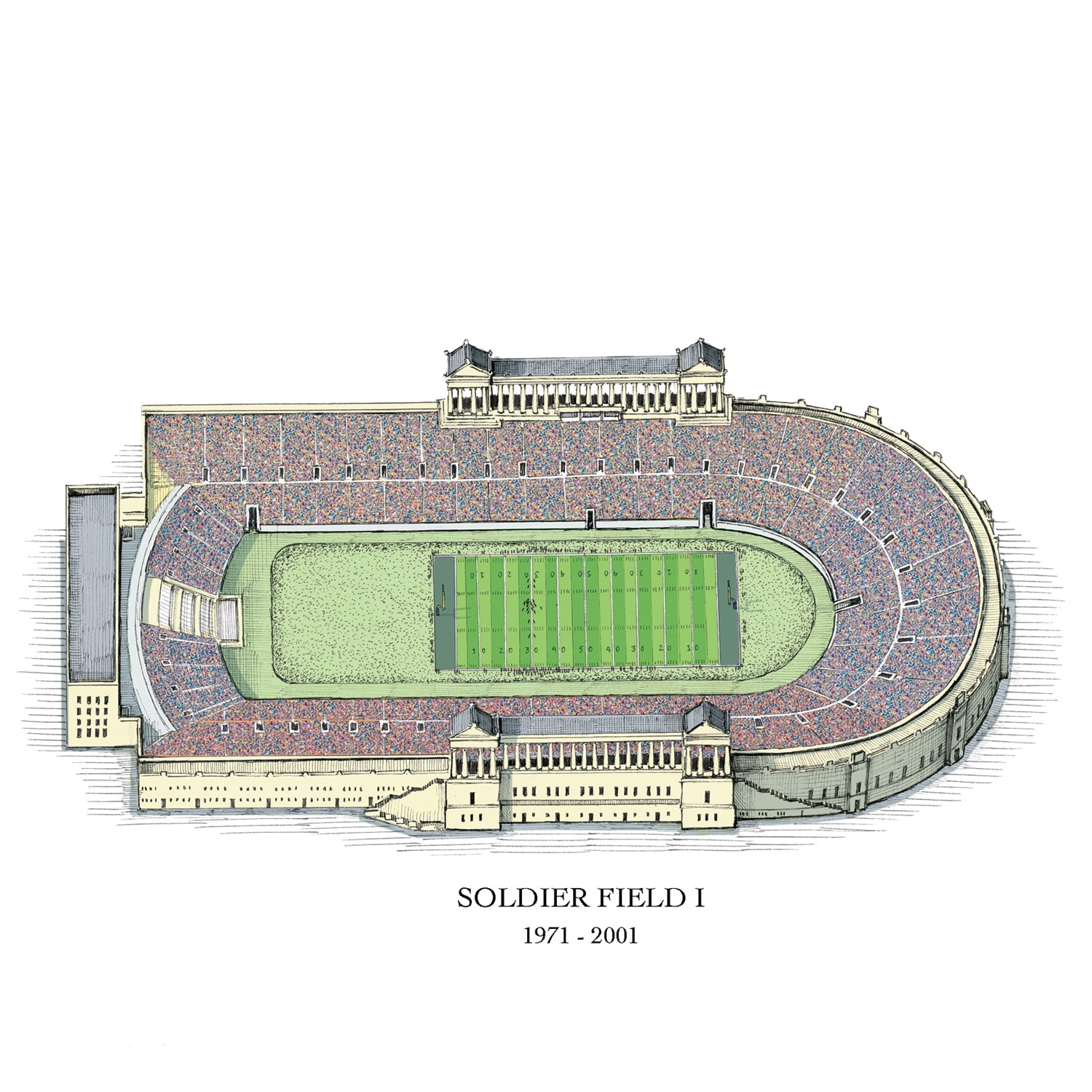 original soldier field drawing