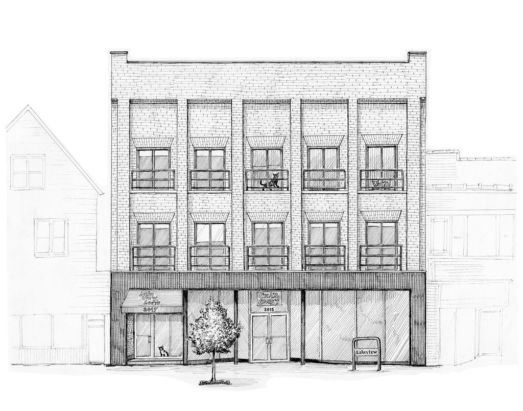 chicago commercial building drawing