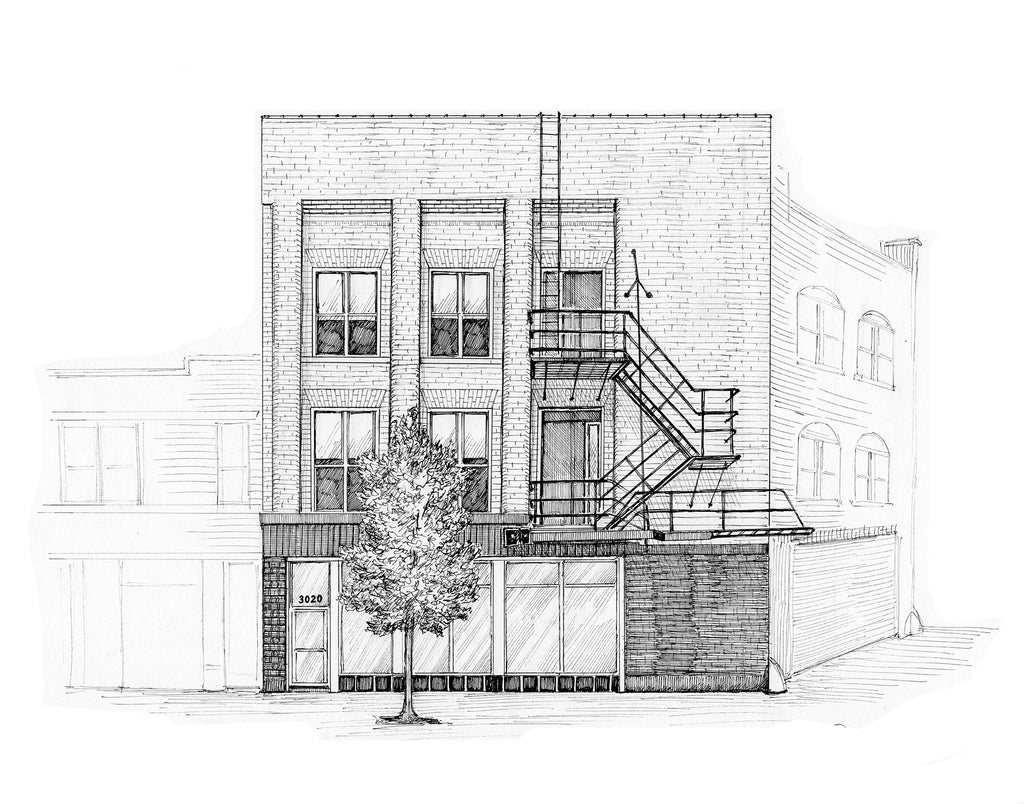 chicago fire escape drawing