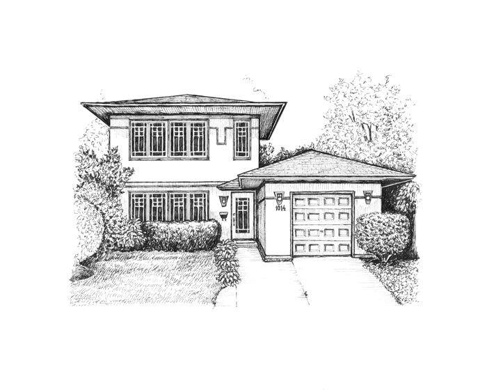 prairie home drawing