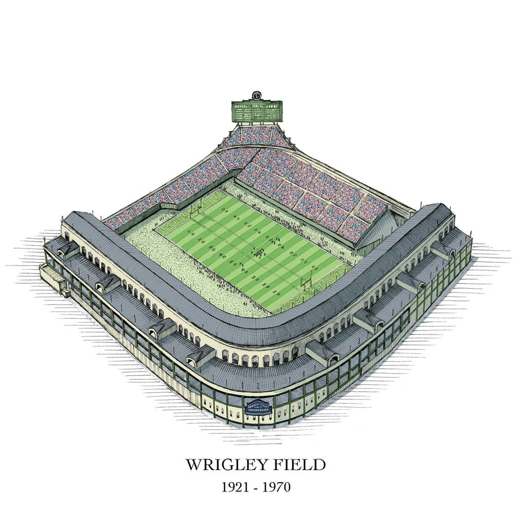 drawing wrigley field chicago bears