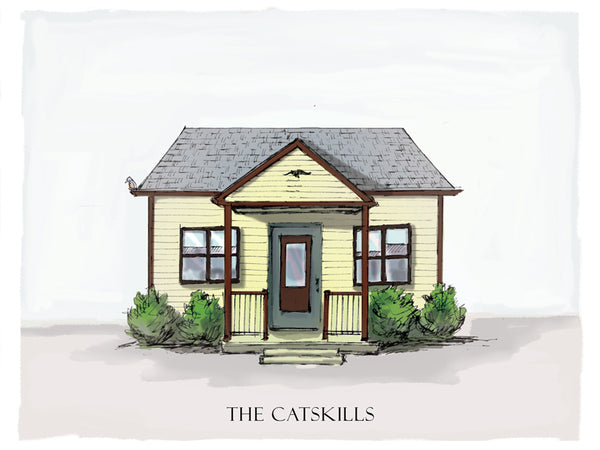catskills bungalow drawing