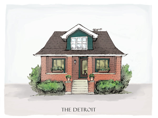 detroit bungalow drawing