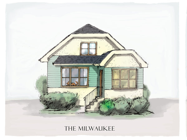 milwaukee bungalow drawing