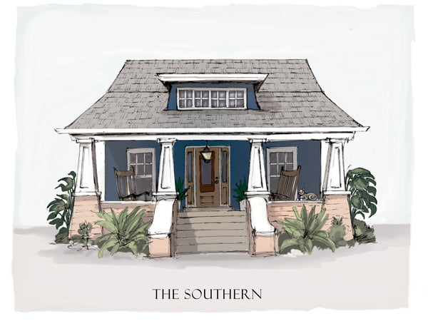 southern bungalow drawing