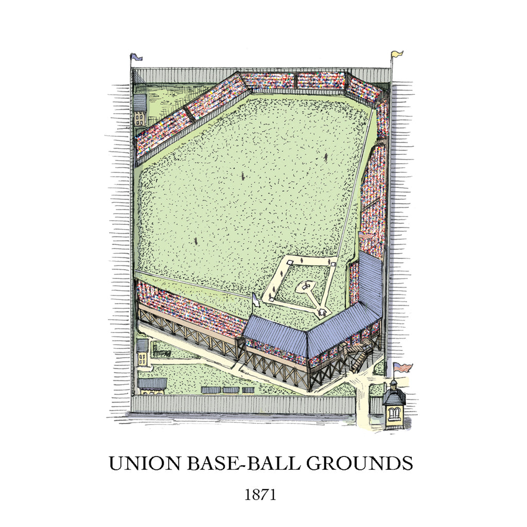 Union Base Ball Grounds drawing