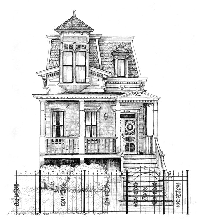 victorian home drawing