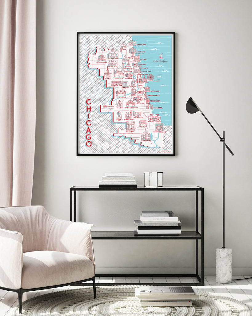 Chicago Map of Landmarks