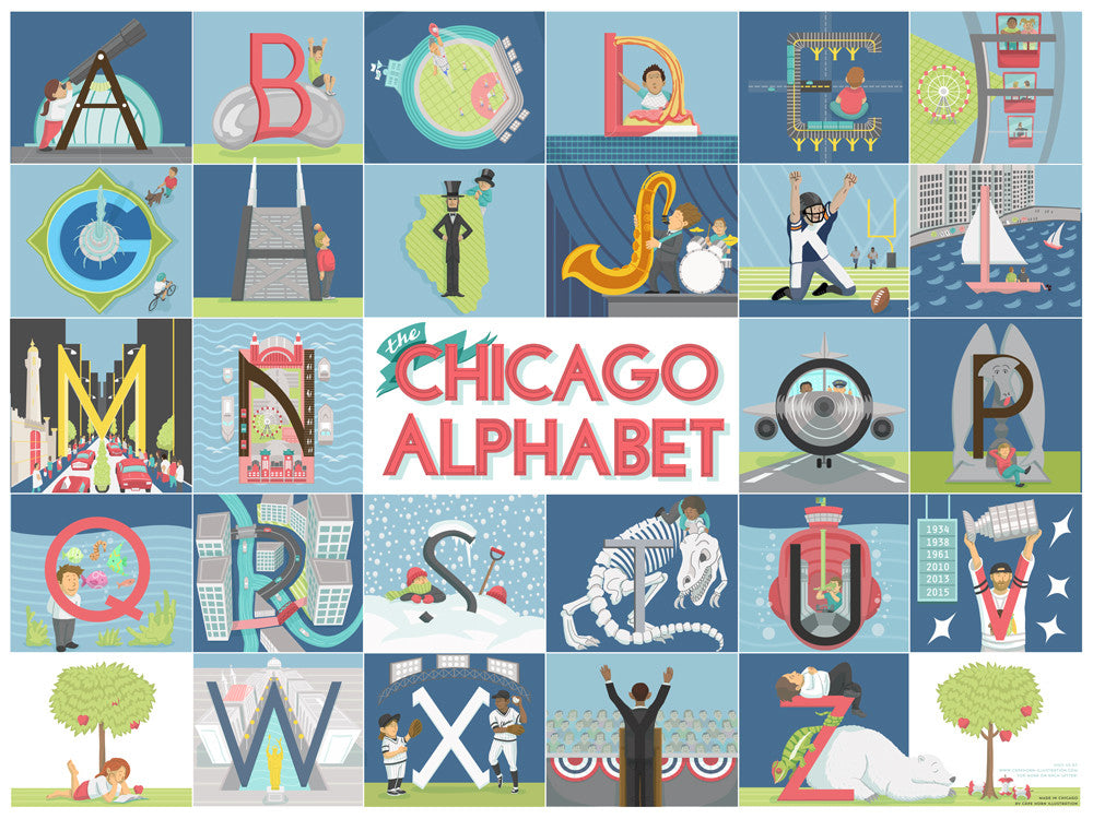 "The Chicago Alphabet (18"" x 24"")"