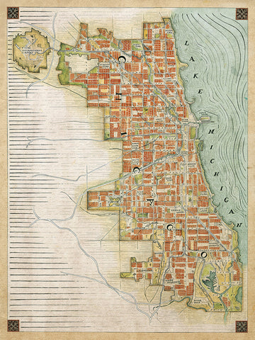 "Chicago Renaissance Map (18"" x 24"")"